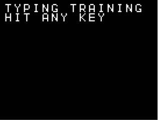タイピング練習ゲーム・スタート画面